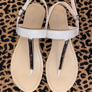 BCBG White Sandals